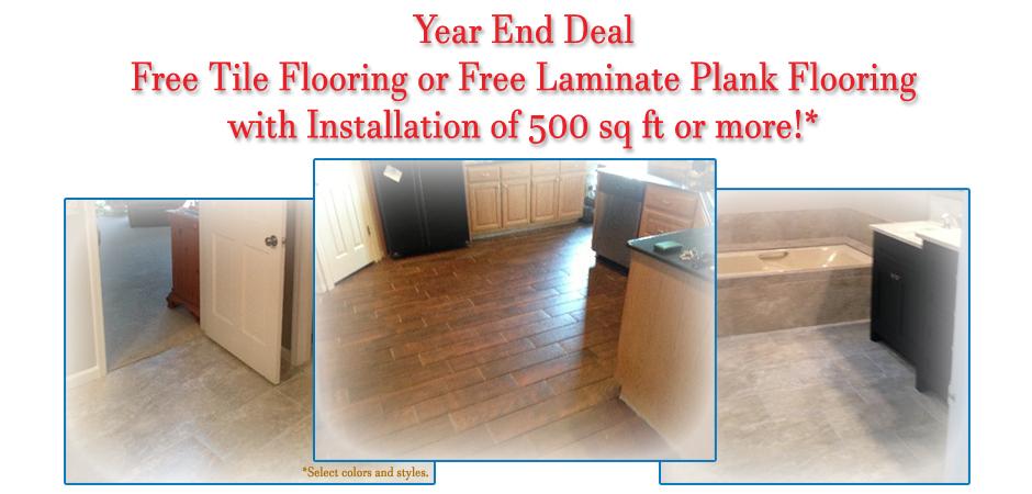 Free Tile or Laminate Plank Flooring